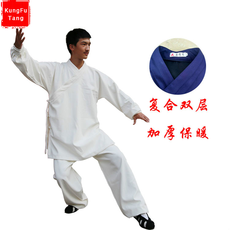 High quality Linen thicken Chinese Wudang Taoist Robe Style Tai Chi Suit Shaolin Kung fu Uniform Wing Chun Martial arts Clothes