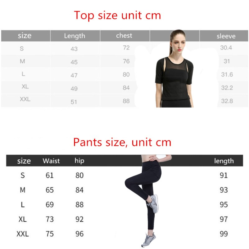 New Women Plus Size Yoga Pants Running Shapers Sweat Pants Weight Lose Gym Activewear Sports top Leggings Stretch Jogging Pants 5