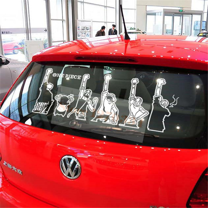 Free Shipping Car styling ONE PIECE Reflective view of back raise hands / Car Stickers Creative decal cartoon design
