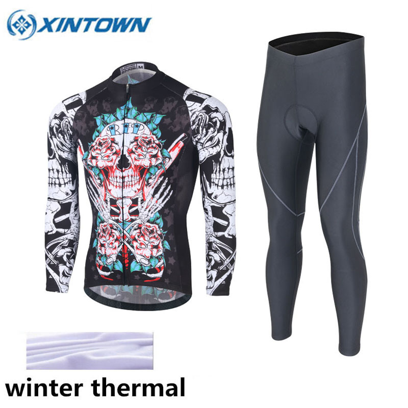 Pro Team Cycling Jersey Set Bike Wear Winter Thermal Fleece Ropa Ciclismo Sportswear Maillot Bicycle Clothes Bike Jersey Set