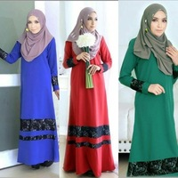 2016 New Jilbabs And Abayas Caftan Arab Garment Abaya Turkey In The Middle East Muslim Women Dress Fashion Large Size