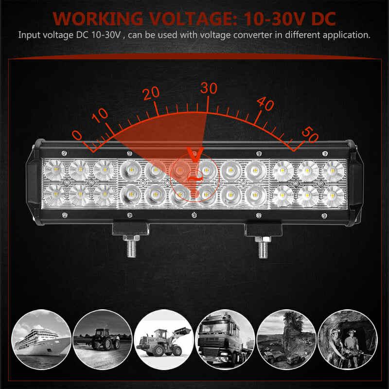 """36 дюймов 28 """"20"""" 17 """"12"""" внедорожный светодиодный свет бар противотуманная фара комбинированный луч для Jeep SUV ATV УАЗ грузовик 12 В 24 в автомобильный Стайлинг"""