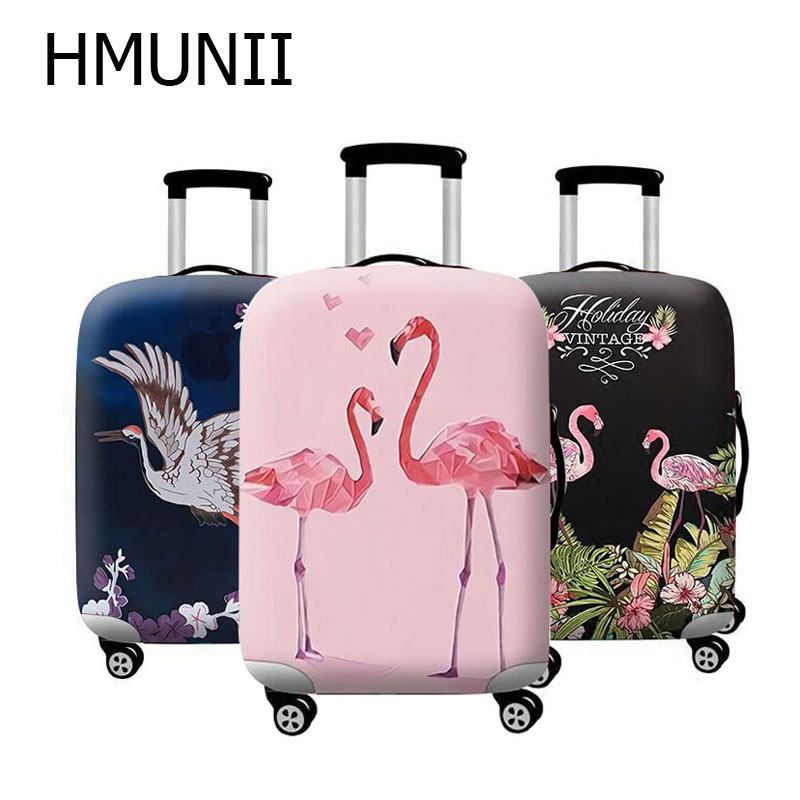HMUNII Hot FashionElastic Fabric Luggage Protective Cover Suitable18-32 Inch Trolley Case Suitcase Dust Cover Travel Accessories цена