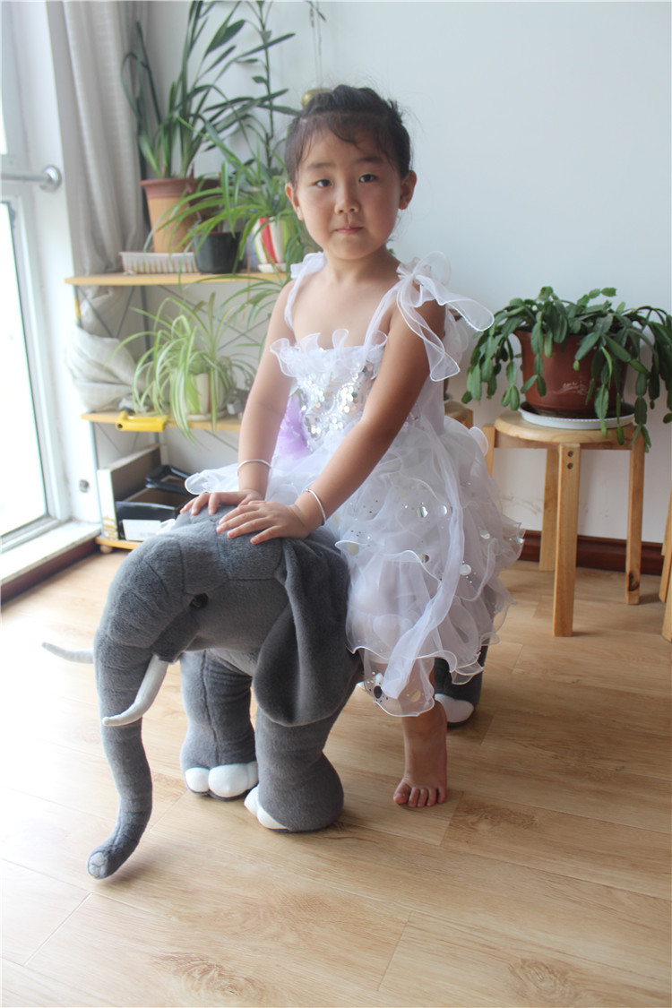 new plush simulation elephant toy big lovely gray elephant doll gift about 58x46cmnew plush simulation elephant toy big lovely gray elephant doll gift about 58x46cm
