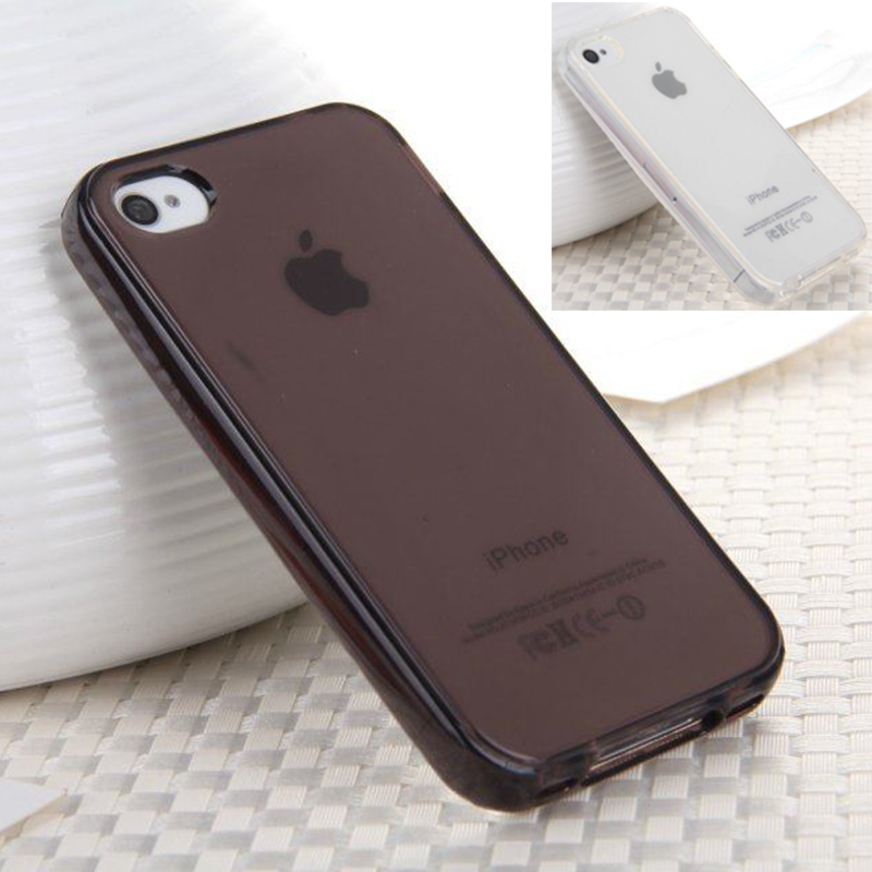 I4 TPU Case Transparent Silicone Cover for Iphone 4 Slim Back Clear Cover Case for IPhone 4S Cheap Capa Para Capinha for Iphone4