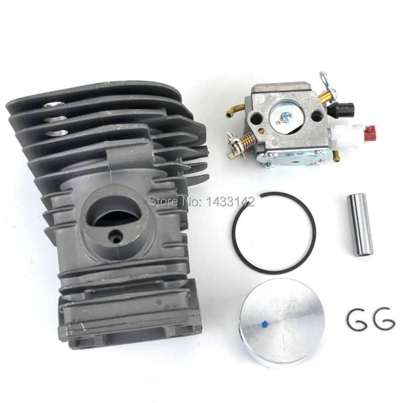Free Shipping Carburetor Cylinder Piston Kits for HUSQVARNA 340 345 Carb Chainsaw Parts 503870276 503 28 32-08