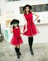 Семейные сопоставления мать дочь платья одежда твердые мама и дочь платье дети родитель ребенок наряды