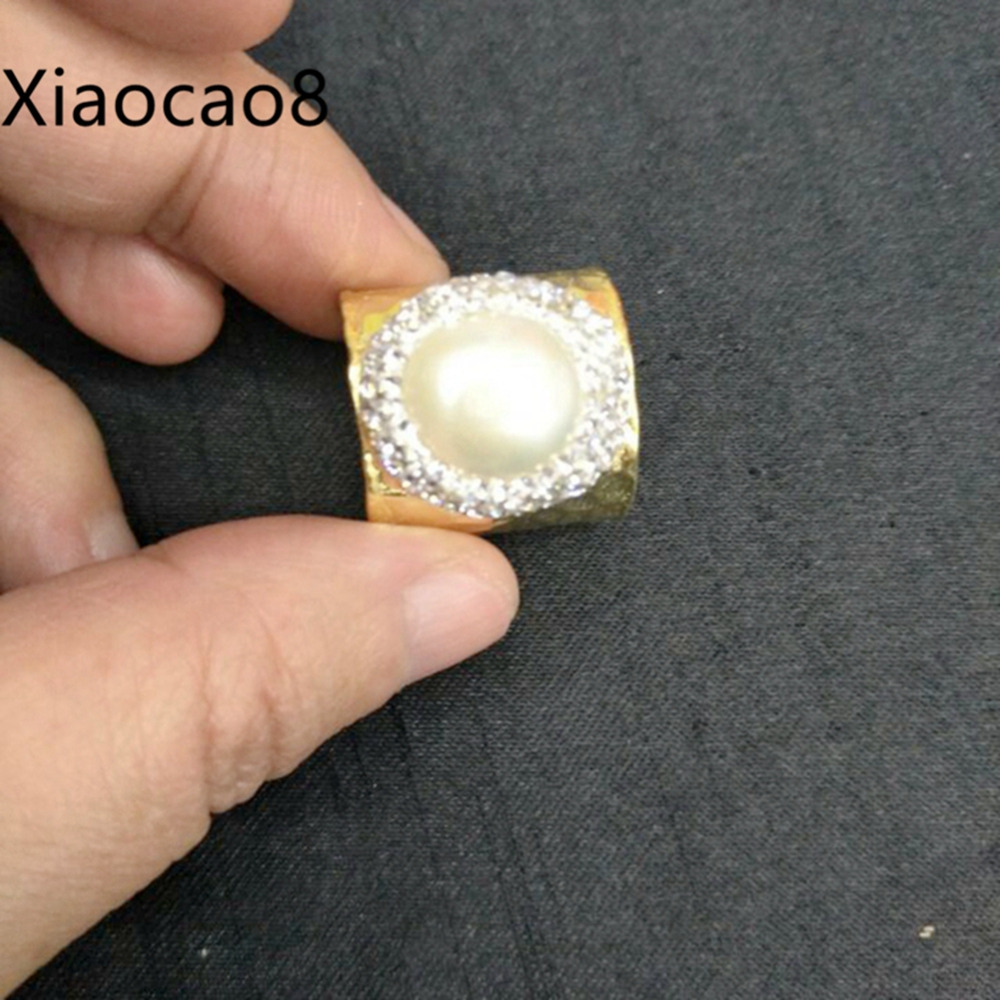 Gold Open Ring Unisex Adjustable Pearl Rings for Women Fashion Men Jewelry Bague Femme Vintage Anillos Jewellery Gift fashion party jewelry rings for women gold color cz snake dames ringen design christmas gift bague femme open rings ka0167