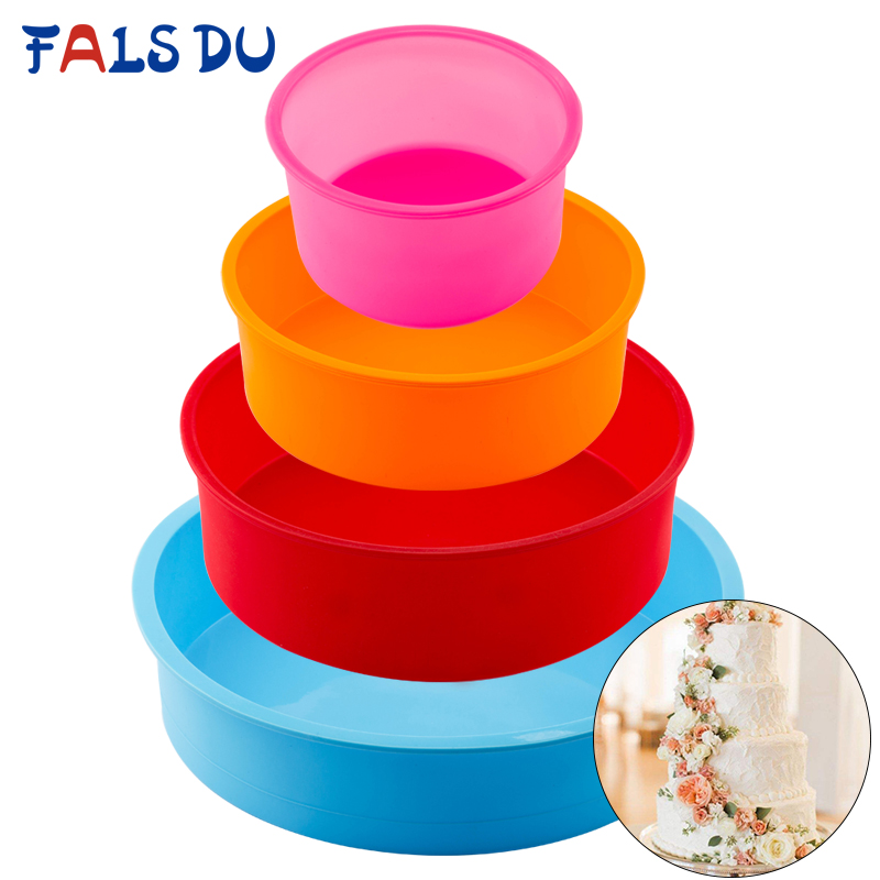 Image 1 - Random Color Silicone Cake Round Shape Mold Kitchen Bakeware DIY Desserts Baking Mold Mousse Cake Moulds Baking Pan Tools-in Cake Molds from Home & Garden