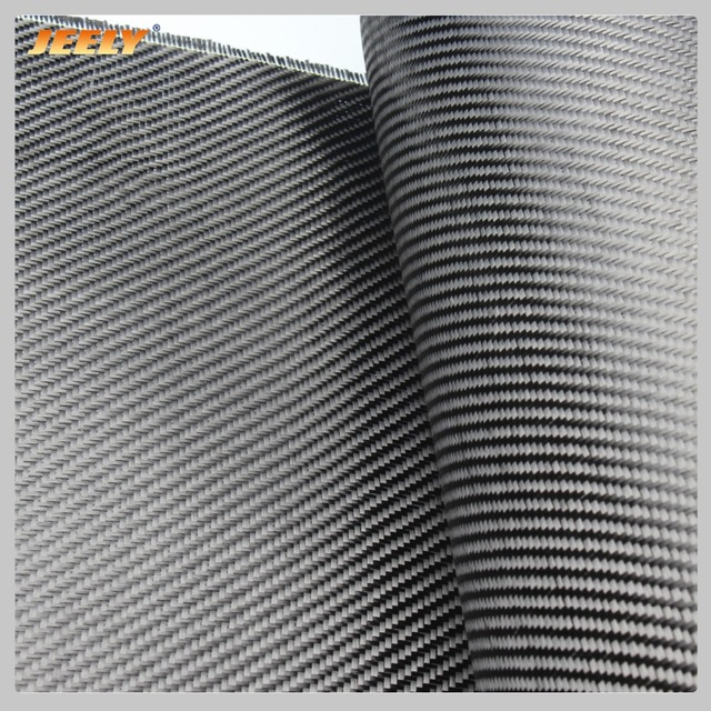 Jeely 3K 2/2 Carbon Fiber 45degree Twill Woven Fabric 200g/m2 0.28mm Thick Carbon Cloth for Car Spoiler Building 1m width