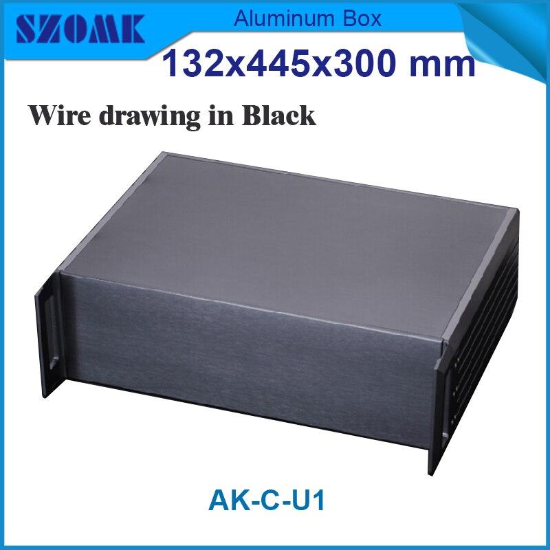 1 piece chassis 1u electronic metal aluminum enclosure 132 H x445 W x300 L mm perfil