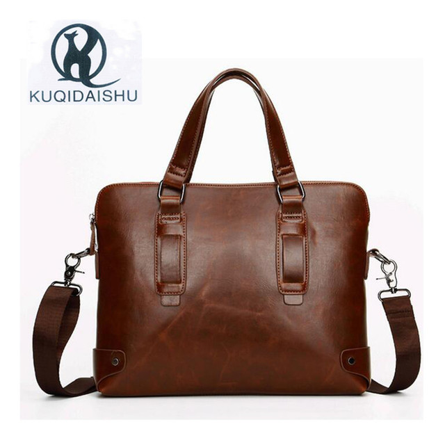 Men Pu Leather Bags Business Laptop Tote Bag S Crossbody Shoulder Casual Messenger Travel