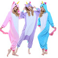 Unicorn Animal Onesie For Adults Women Men Cosplay Costumes Anime Unisex Pajamas For Halloween Dress Party Suit Fleece Romper