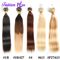 Fashion Plus Micro Bead Link Human Hair Extensions 1g Strand Micro Loop Ring Hair Extensions Remy