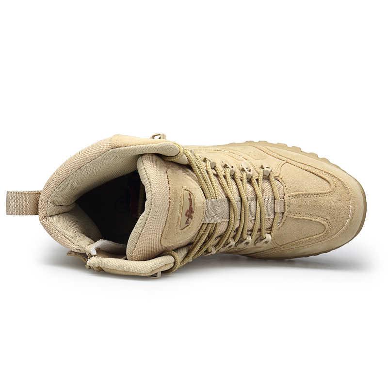 Inverno/outono homens deserto tático militar botas tamanho 39-46 sapatos de segurança do trabalho do exército bota moda zapatos tornozelo combate botas