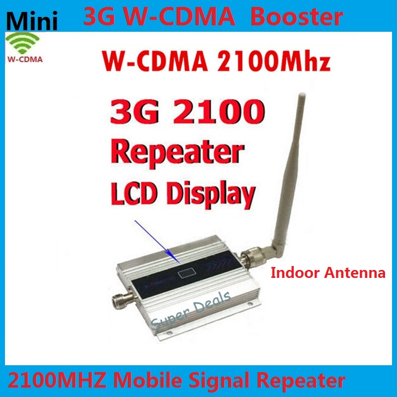 LCD 3G Repeater + Indoor Antenna ! WCDMA 2100MHz Cellular Signal Booster ,3G Mobile Cell Phone Signal Booster Repeater Amplifier