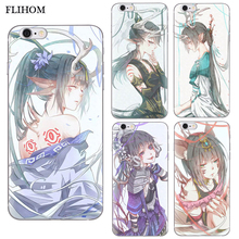 For iPhone 5S Phone Case Anime TPU iphone 6 6s Case for iphone X Shell Soft Cover For iPhone 6 6s plus 7 7plus 8 8 Plus Cover