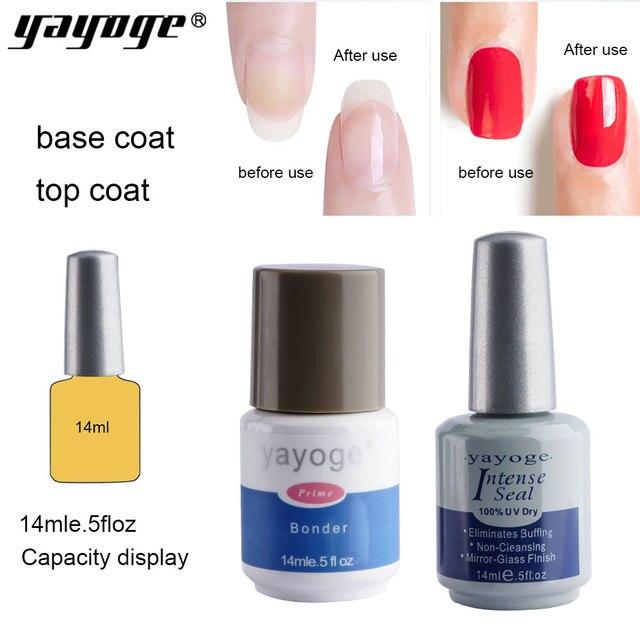 Yayoge Base Top Coat Set Kit Nail Gel Polish Varnish Uv Led Primer Bonder Intense Seal