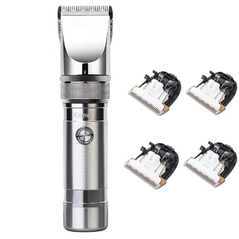 Aluminum Alloy professional hair clipper hair trimmer electric cutter hair cutting machine haircut barber tool 2200mA Li-battery kemei barber professional rechargeable hair clipper hair trimmer men electric cutter shaver hair cutting machine haircut