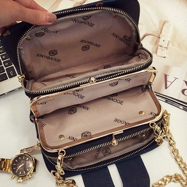 The new han edition fashion women bag mobile packet chain Crossbody bag XY322