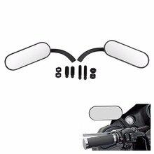 Мотоцикл Кафе Racer зеркало заднего вида для Harley Electra Road Glide Dyna Softail Sportster круизер Чоппер Боббер аксессуары