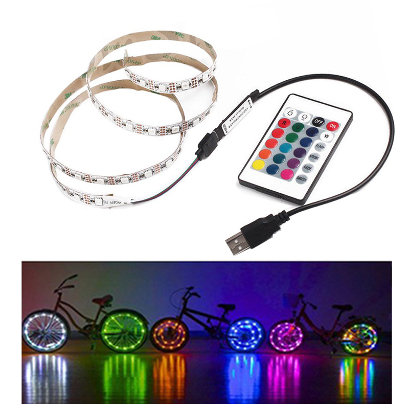 USB 5V Led Strip light SMD2835 RGB Led Tape Strip pc Warm White 50CM 1 2M led Lamp Flexible Tape Lights led TV USB No Waterproof usb powered flexible neck 10 led white light lamp blue 27cm