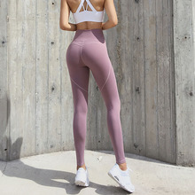 2019 Women Yoga Pants Leggings Sport  Seamless Mesh Running Sport Tights Women Mention Hip Gym Yoga Fitness Athletic Leggings