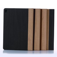 High Quality Wood Folio Stand PU Leather Card Slots Magnet Smart Sleep Case Cover For Apple iPad Pro Air3 Air 3 9.7 inch Tablet