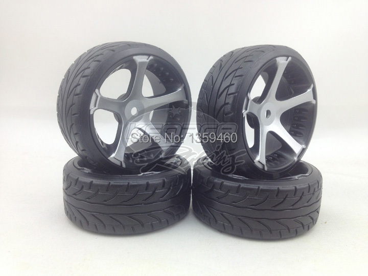 painting Silver 4pcs Rc Hard Pattern Drift Tires Tyre Wheel Rim 5spoke W5s5s 3mm Offset Fits For 1:10 Drift Car High Quality And Low Overhead
