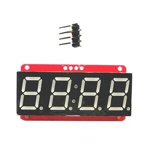 Image 2 - 4 ספרות 7 קטע 0.56 תצוגת LED צינור עשרונית 7 מגזרים HT16K33 I2C שעון כפול נקודות מודול עבור