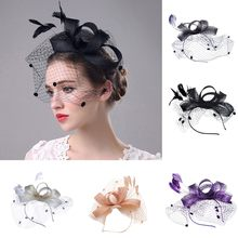 Frauen Hut Kappe Filzhüte Kleid Fascinator Wollfilz Pillbox Hut Partei Penny Mesh Hut Bänder Und Federn Hochzeit Party Hut(China)