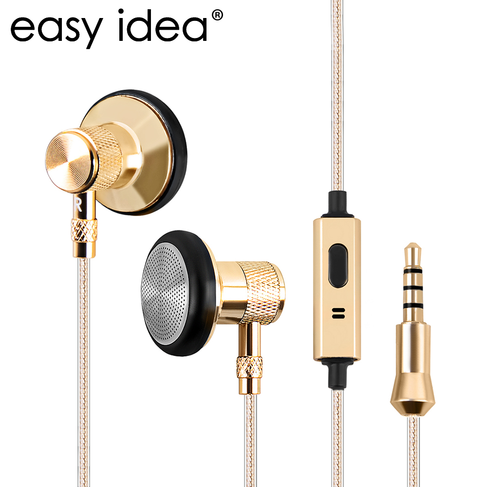 Metal Earphone Super Bass Headset With Mic Earbuds HIFI Stereo 3.5mm Subwoofer Sound Music Earphones For Mobile Phone D07