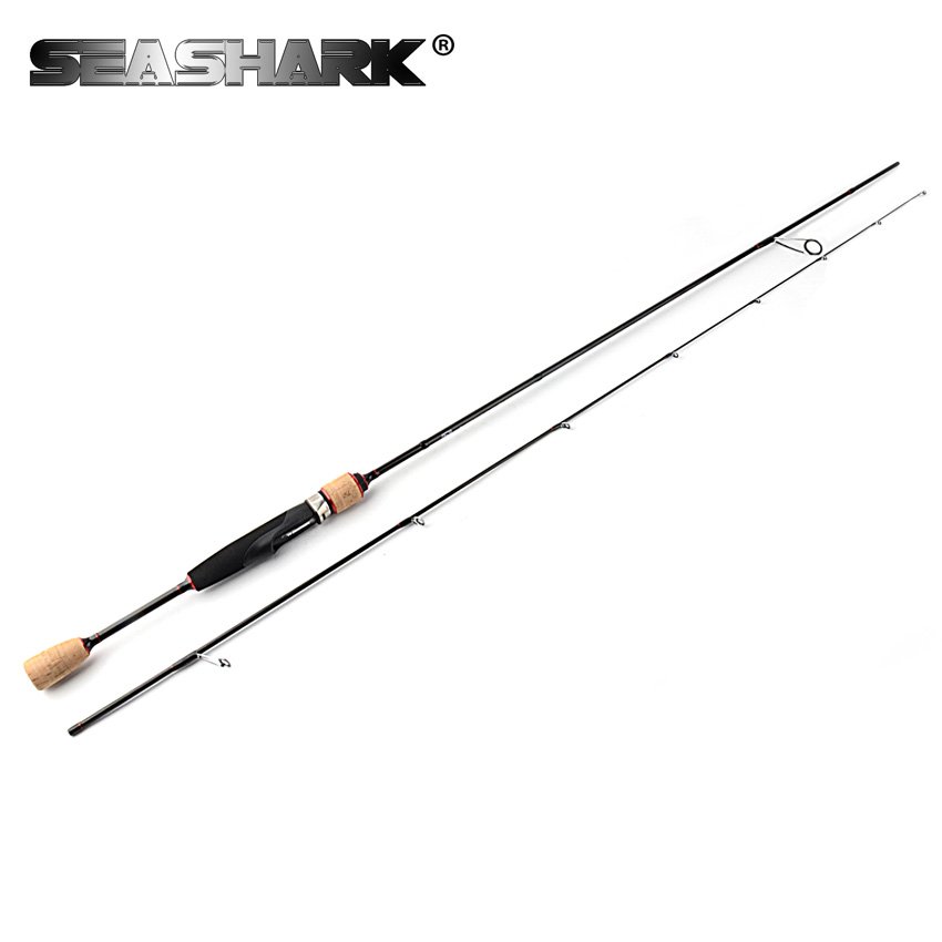SEA SHARK 632Ul 1.91M Carbon Spinning Rod 16g Lure Weight Line WT 4-7lb Ultra Light 2 Sections Lure Fishing Rods Baitcast Rod top quality brave fresh water spinning rod 1 98m ml lure rod lure weight 2 15g line weight 4 12lb 98% carbon fishing rod