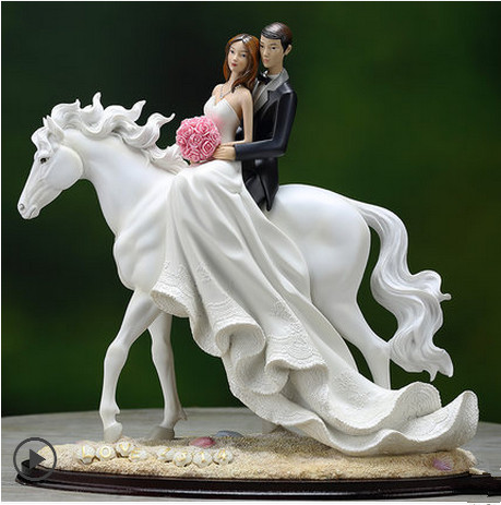 Sitting On The Horse White Wedding Gifts Bridal Shower Favors Home Decoration With Free Shipping In Statues Sculptures From Garden