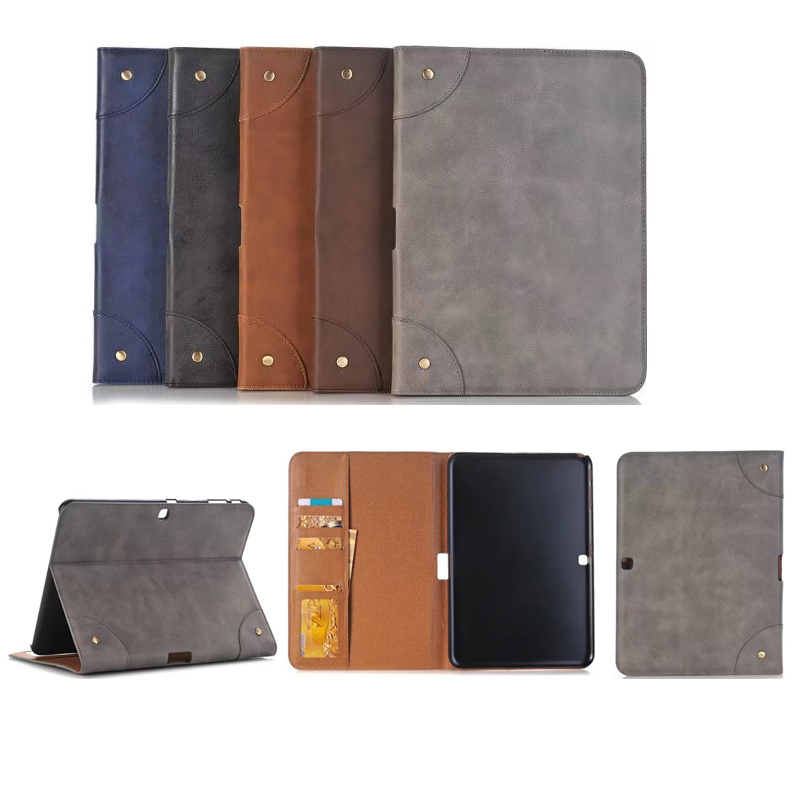 Retro Business Scrub Leather Cover Case for Samsung Galaxy tab 4 10.1 inch T531 T535 Tablet PU Leather Case for Samsung T530 pu leather tablet case cover for samsung galaxy tab 4 10 1 sm t531 t530 t531 t535 luxury stand case protective shell 10 1 inch