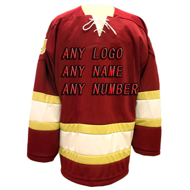 Custom Factory OEM Hockey Jerseys Embroidery Mens Supplier Tackle Twill  Shirt USA CANADA Australia-in Hockey Jerseys from Sports & Entertainment on  ...