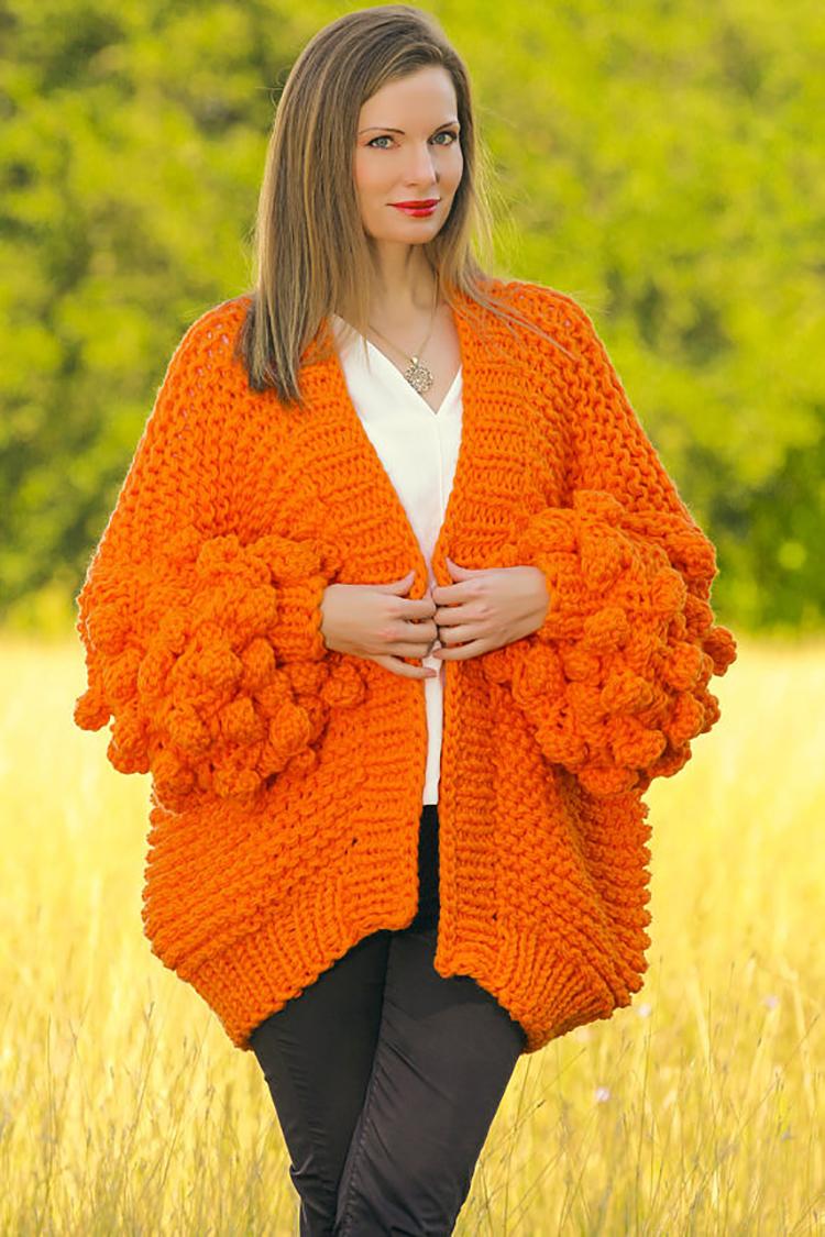 Thick warm Winter fashion women s Cardigan Sweater Handmade Crochet hook  braided Oversized sweater Autumn Sweater Women 43287cedc