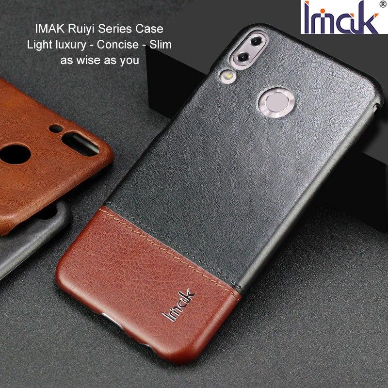 IMAK Ruiyi Série De Luxe Peau PU Étui En Cuir pour Asus Zenfone 5 (ZE620KL)/5Z (ZS620KL) dur PC Retour Cas de Couverture Qualité