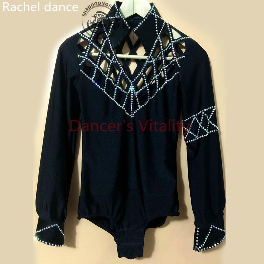 2017 Hot Selling Men Spandex Tango New Arrival Men/boy Latin Dance Dress Tops Man/boys Ballroom Shirt Dancewear