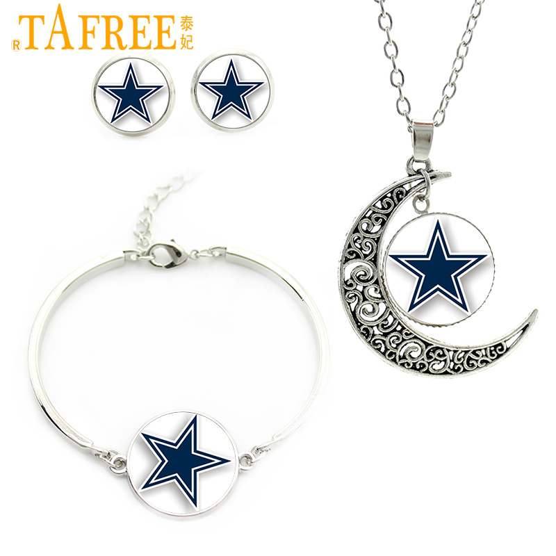 Tafree blue star jewelry sets famous american football for Jewelry stores in dfw area