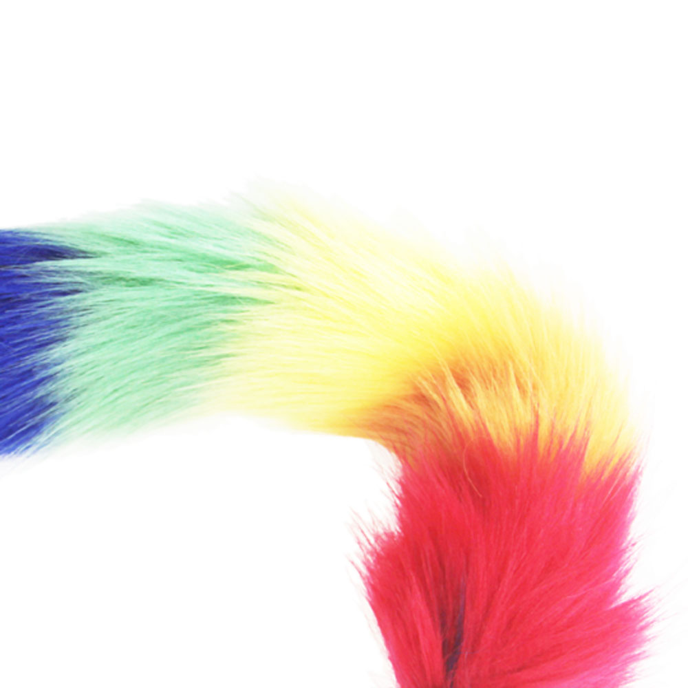 hh080 rainbow fox tail anal plugs (1)