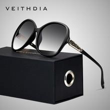 VEITHDIA רטרו מקוטב יוקרה גבירותיי מותג מעצב נשים משקפי שמש Eyewear oculos דה סול feminino V3025