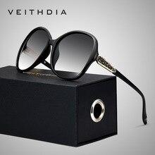 VEITHDIA Retro แว่นตา Polarized Luxury สุภาพสตรีออกแบบแบรนด์ผู้หญิงแว่นตากันแดดแว่นตา oculos de sol feminino V3025