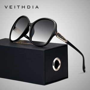 Image 1 - VEITHDIA Retro Sun glasses Polarized Luxury Ladies Brand Designer Women Sunglasses Eyewear oculos de sol feminino V3025