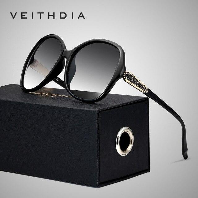 VEITHDIA Retro Sun glasses Polarized Luxury Ladies Brand Designer Women Sunglasses Eyewear oculos de sol feminino V3025