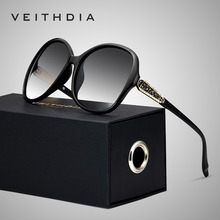VEITHDIA レトロサングラス偏光高級レディースブランドのデザイナーの女性サングラス眼鏡 oculos デゾル feminino V3025