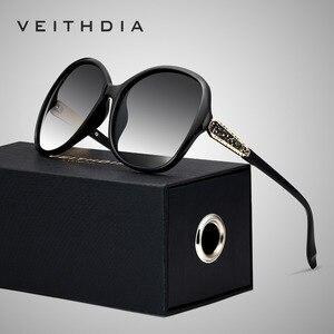 Image 1 - VEITHDIA レトロサングラス偏光高級レディースブランドのデザイナーの女性サングラス眼鏡 oculos デゾル feminino V3025