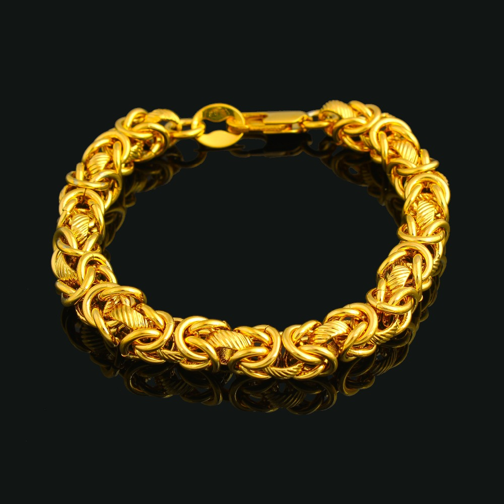 2016 The New Trendy Bracelet Gold color For Women Men Fashion Jewelry Holiday Gifts image