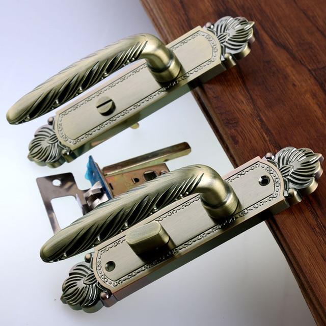 Bronze einfaches Badezimmer türschloss küche gang solide holztür ...