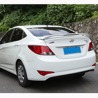 For Hyundai Verna Accent Spoiler 2011 2012 2013 2014 2015 Tail Wing Decoration ABS Plastic Unpainted Primer Rear Trunk Spoiler